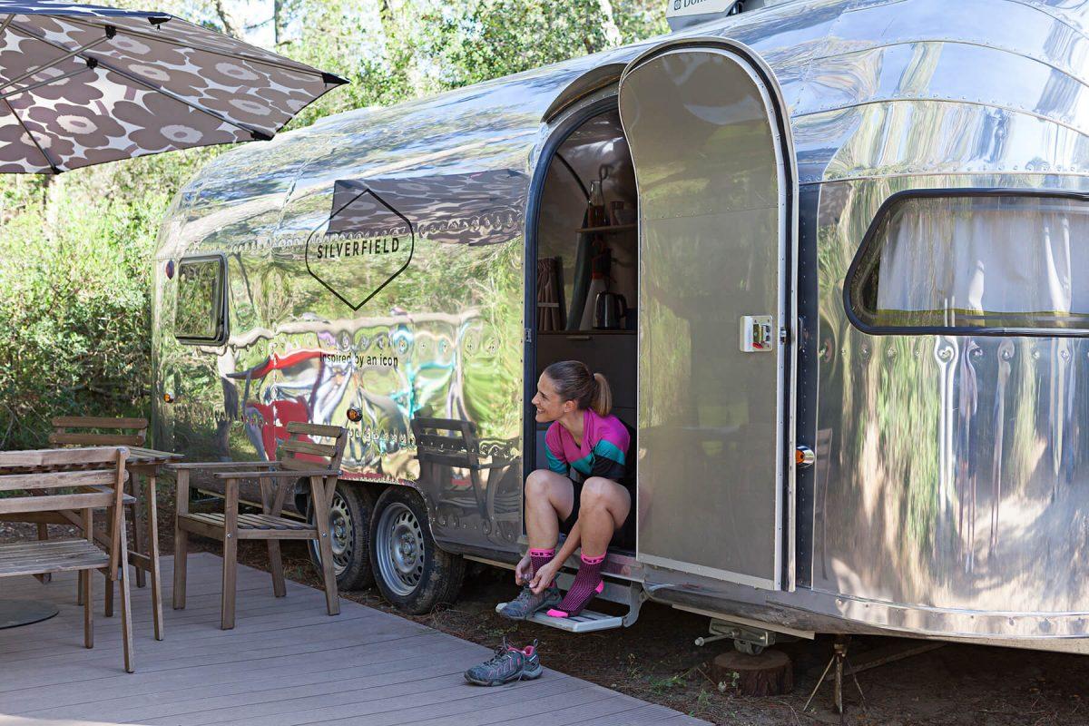 Glamping in caravan