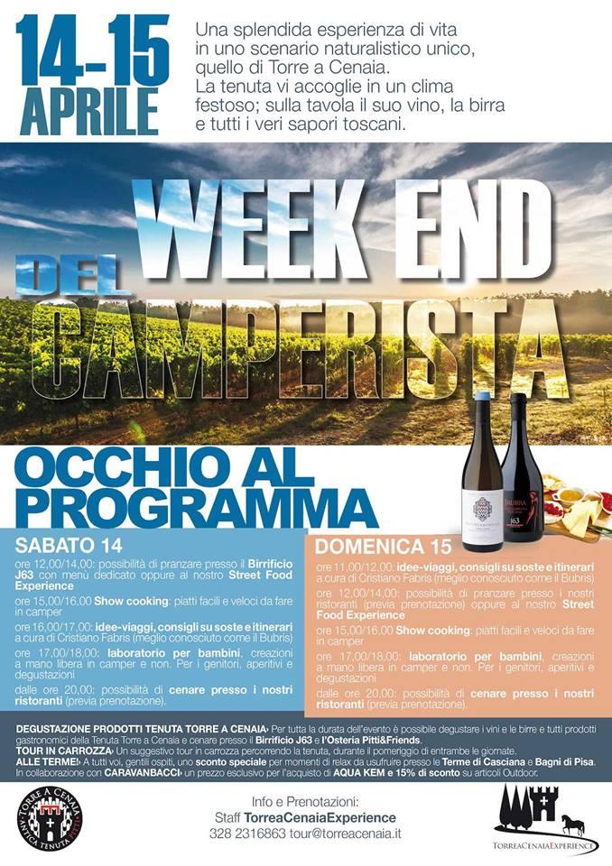 week-end del camperista a Torre a Cenaia (PI)