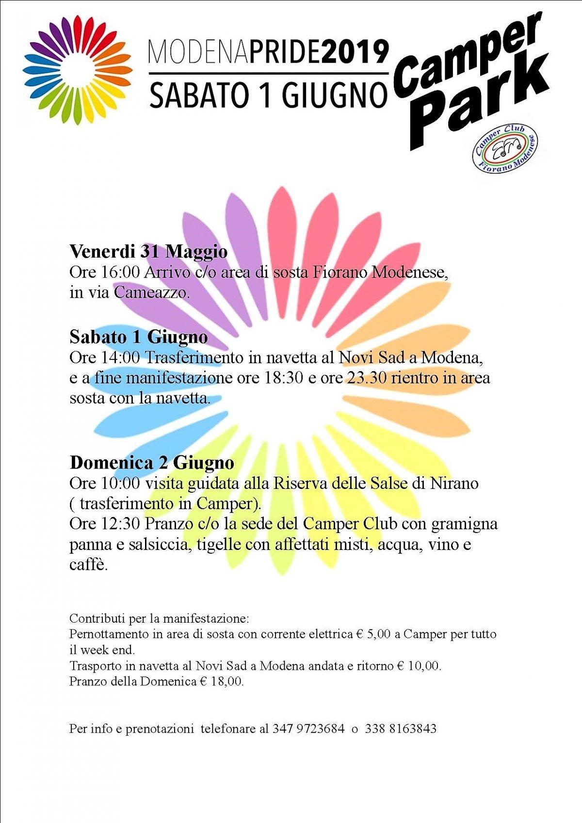 Pride a Modena in camper